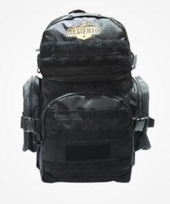 Morral Táctico Tipo Comando Desierto Color Negro, bolso, elaborado con reata de nylon y lona de alta durabilidad impermeable, 2 bolsillos de 52CM de fondo por 35 CM de ancho, con bolsillo interno acolchado para portátil, bolsillo frontal 30 CM
