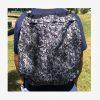 Tula o bolso manos libres color pixelado gris