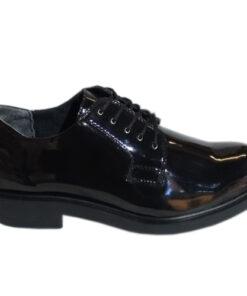 Zapato Charol de presentación para hombre, suela en caucho