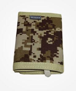Billetera elaborada en lona de alta resistencia impermeable con compartimentos para documentos y billetes. Medidas 11 CM alto x 8 CM de ancho x 2 CM de fondo.