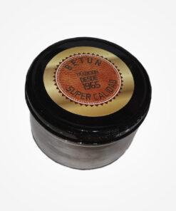 Betún Súper Calidad, elaborado de emulsiones de ceras naturales, sintéticas en varsol y suavizantes que dan al cuero nutrición y humectación